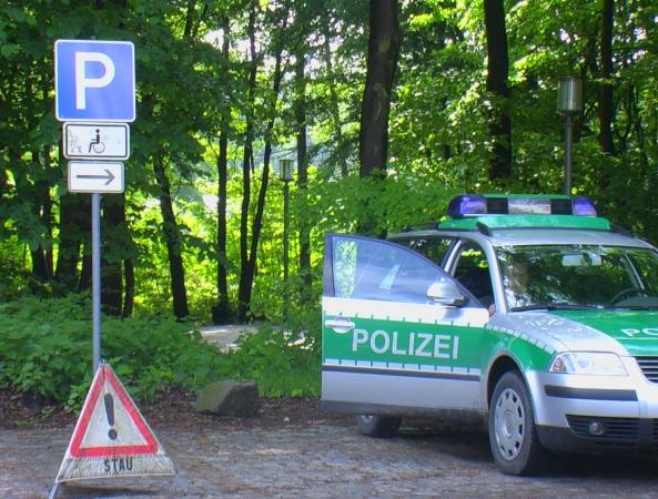 Polizeifahrzeug in Heiligendamm