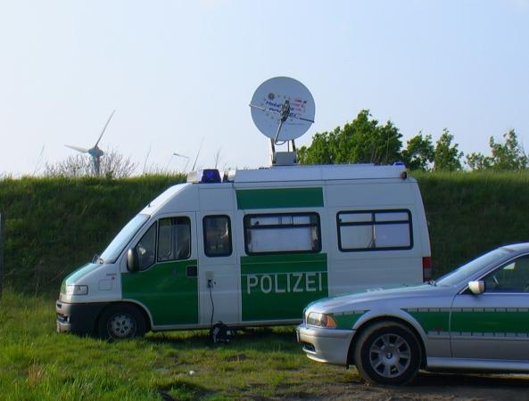 Satcar der Polizei